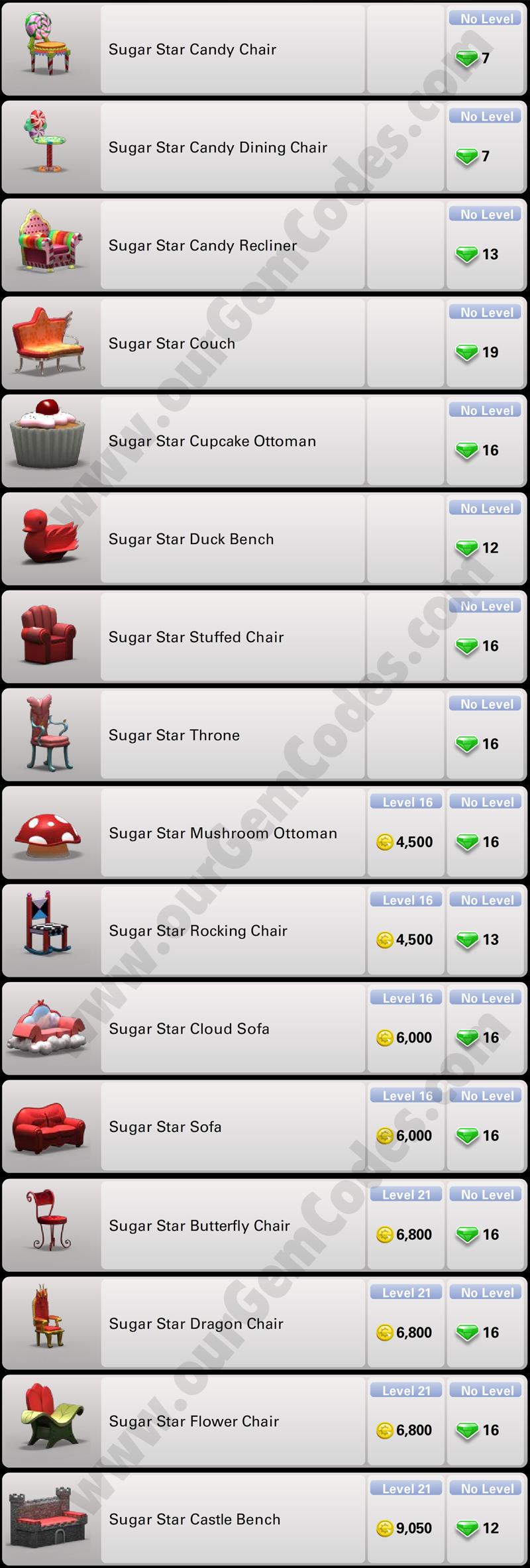 Sugar Star Furniture Ourgemcodes